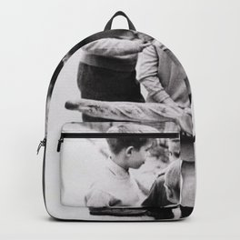 The Gangs of Paris, Little Boys with Morning Baguettes black and white photography - black and white photographs Backpack