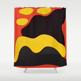 Abstract Color Graphic Landscape Shower Curtain