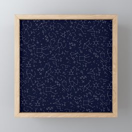 Chemicals and Constellations Framed Mini Art Print