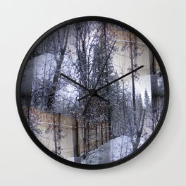 Laden with snow... Wall Clock
