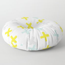 Positive Vibes - Yellow Floor Pillow