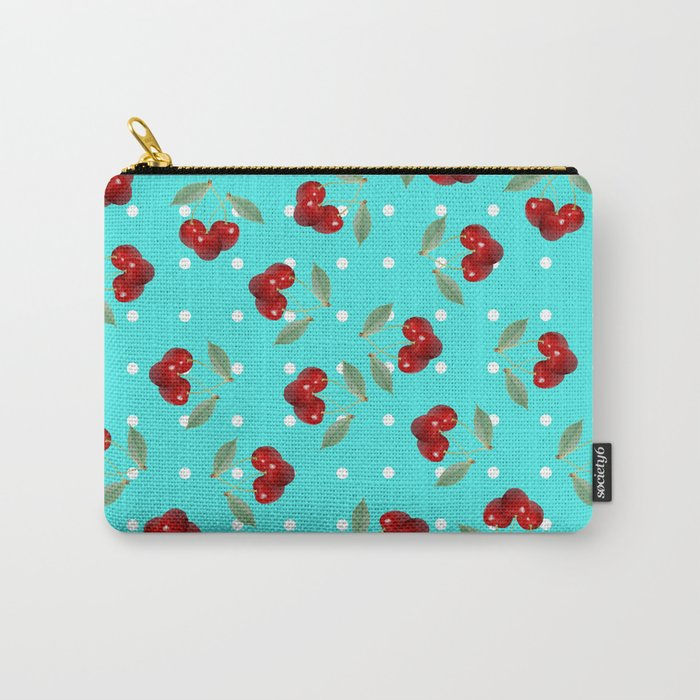 Retro Cherries Carry-All Pouch