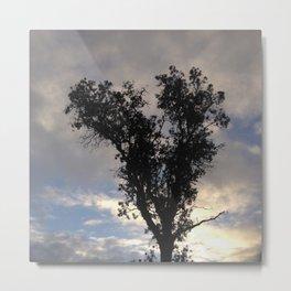 Glowing cloud heart tree Metal Print