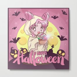 Happy Halloween Chibiusa Metal Print