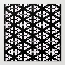 Multi Pattern Black and White Design Canvas Print