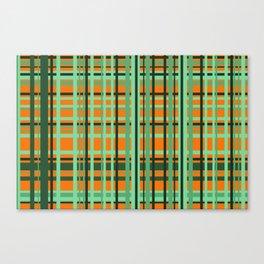 Orange - green checkered Design Canvas Print