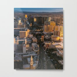 Sunset over Las Vegas Strip Metal Print