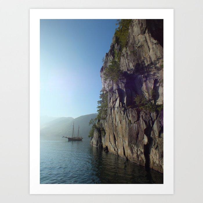 Lysefjord Art Print