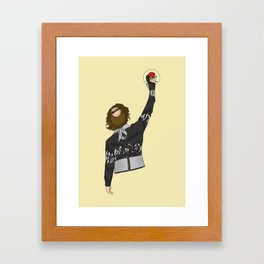 Finally, Big Ern is above the law! Framed Art Print