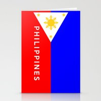 philippines Stationery Cards featuring flag of Philippines by tony tudor