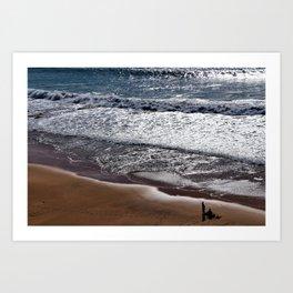 Sand, Waves & Sunset Art Print