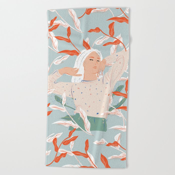 She's Electric Beach Towel