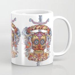 Mutant Day of the Dead Skull Coffee Mug