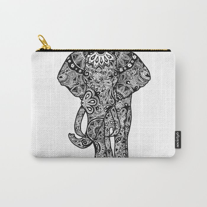 Tribal Elephant Carry-All Pouch