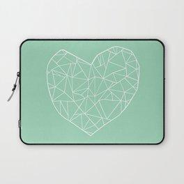 Abstract Heart Mint Laptop Sleeve