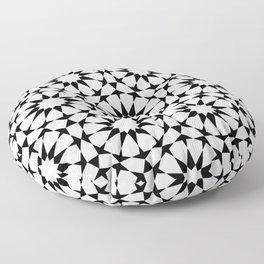 Arabesque in black and white Floor Pillow