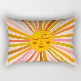 Sunshine – Retro Ochre Palette Rectangular Pillow