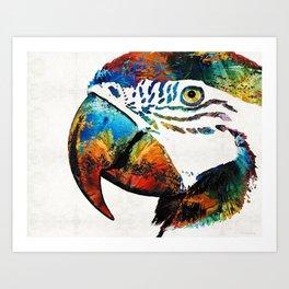 Parrot Head Art By Sharon Cummings Art Print