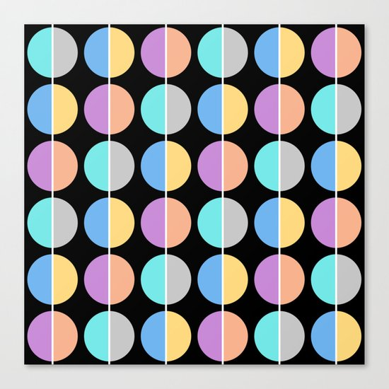 BACK TO THE 70's (abstract geometric pattern) Canvas Print