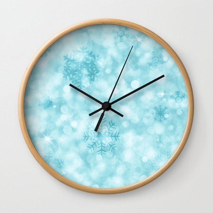 Winter Vibes Wall Clock
