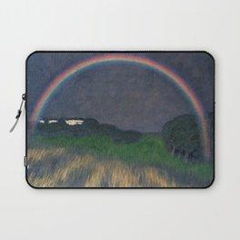 Rainbow at Twilight, Wheat Fields, Auvers-sur-Oise, Frances by Franx von Struck Laptop Sleeve