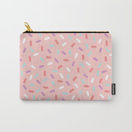 Pink Sprinkle Confetti Pattern Carry-All Pouch