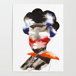 Dark Skinned Fierce Fashion Soldier Poster
