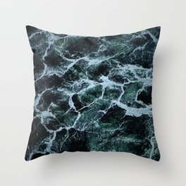 Waves Marble (Color) Throw Pillow