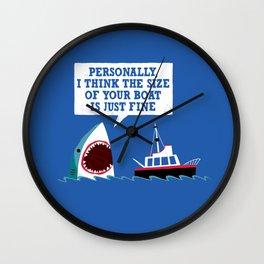 Polite Jaws Wall Clock
