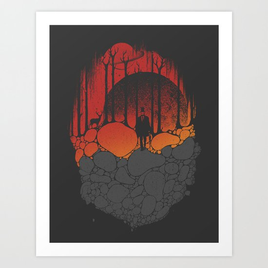 Dark Sunshine Art Print