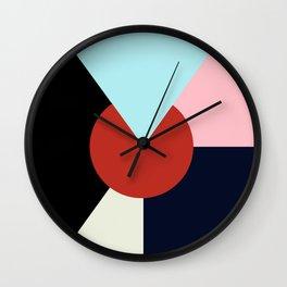 Circle Series - Red Circle No. 3 Wall Clock