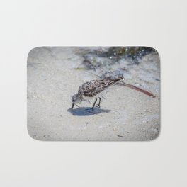 Single Bird on the Beach Bath Mat