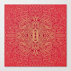 Radiate (Red Yellow Ochre non-metallic) Canvas Print