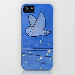 Owl and Fireflies iPhone Case