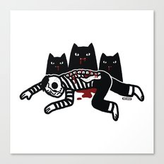 Cat Feast Canvas Print
