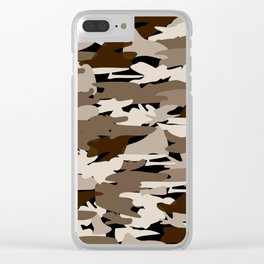 Camo - brown Clear iPhone Case