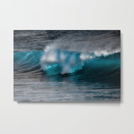 Wave Series Photograph No. 11 - The Most Beautiful Wave Metal Print