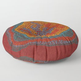 Growing - Lamium - plant cell embroidery Floor Pillow