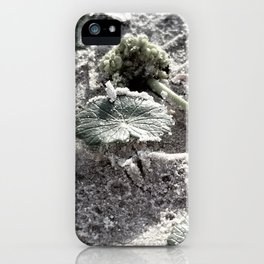 Sandy shoe imprint iPhone Case