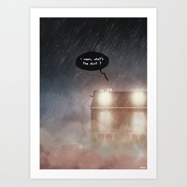 What's the point ? Art Print