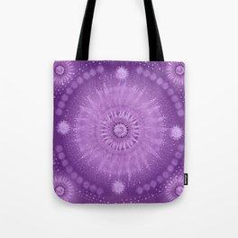 """Purple & Mallow Vault Mandala"" (Silver stars) Tote Bag"