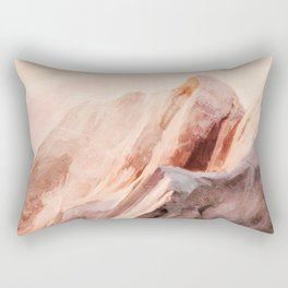 snow mountains landscape Rectangular Pillow