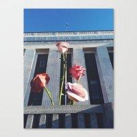 nashville Canvas Prints featuring Nashville by Yellow Barn Studio