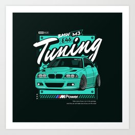 Sport Car vehicle Automotive Illustration  Art Print