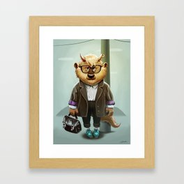 Hipster Monter Girl Framed Art Print