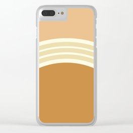 one day – earthen clay layers 2 Clear iPhone Case