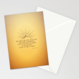 Keep Your Eyes Fixed on the Sun Stationery Cards