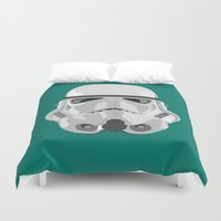 storm trooper Duvet Covers featuring Storm Trooper by Inza Vita