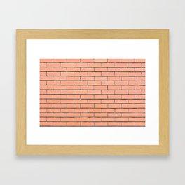 Brick wall pattern Framed Art Print