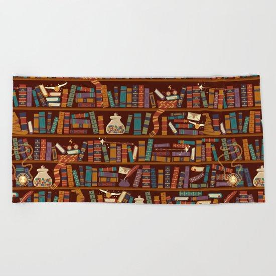 Bookshelf Beach Towel